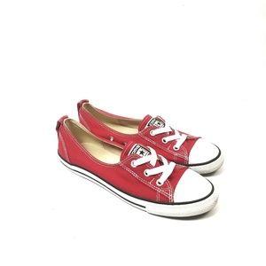 Converse Chuck Taylor Red Ballet Lace Slip Sz 7